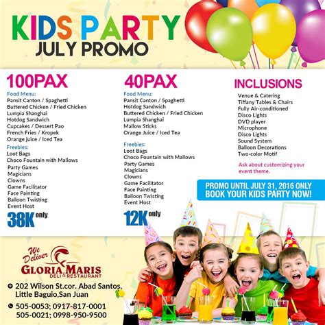 affordable kids party packages clowns magicians fpainting