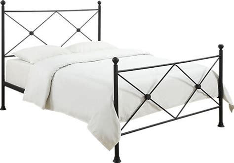 Corinna White Black Leather Dining by Corinna Black Post Bed Poster
