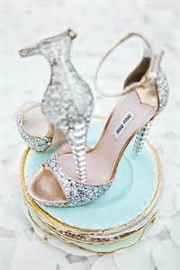 Glamour Sparkly Wedding Shoes on eWeddingInspiration