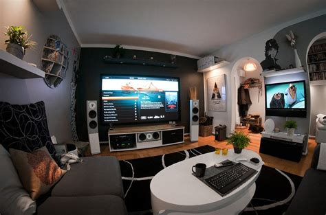 a home entertainment setup