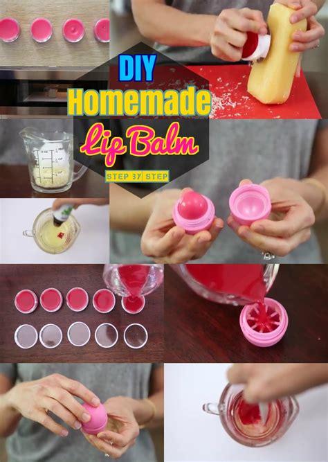 Steps For A Home Made Lip Balm by Diy Lip Balm Lip Balm How To Make Tinted Lip