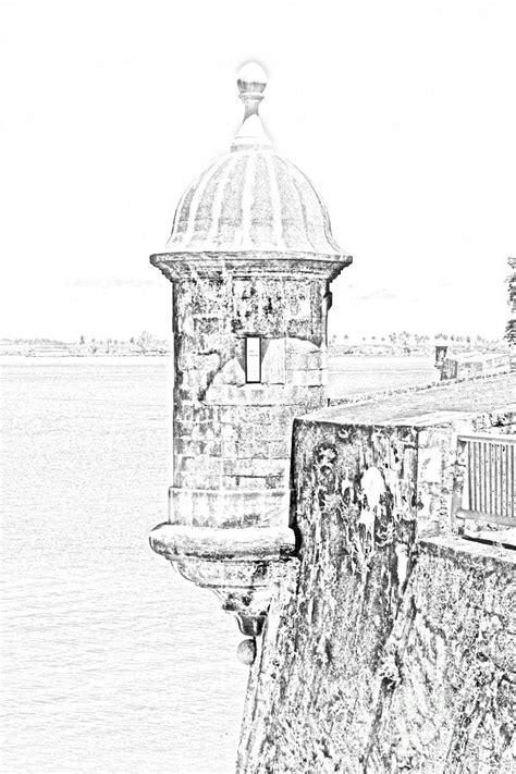 dibujo del morro sentry tower castillo san felipe del morro fortress san