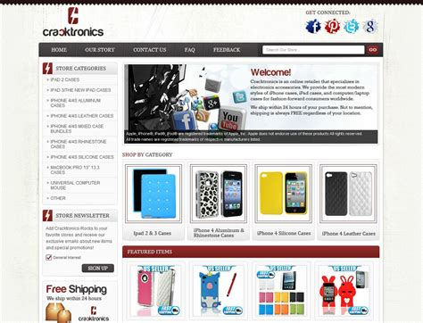 Ebay Storefront Template ebay store design for cracktronics cellular accessories