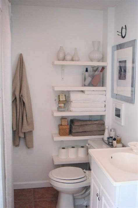 Bathroom Storage Solutions Small Space Hacks Tricks Small Bathroom Shelving