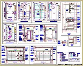 Kitchen Cabinet Layout Plans hospital clean utility room plan n design