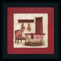 Details about ruby romance ii red bathroom wall art print framed