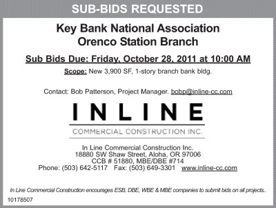 bank national association in line commercial construction is requesting