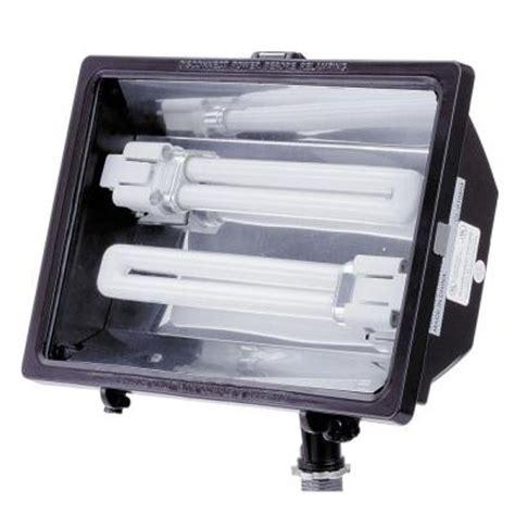 cfl flood light home depot lithonia lighting 13 watt cfl outdoor bronze mini