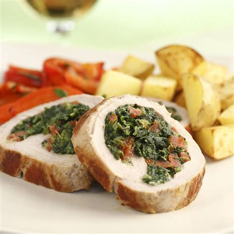 pork chops stuffed with feta and spinach cooking light spinach and feta stuffed pork tenderloin recipe