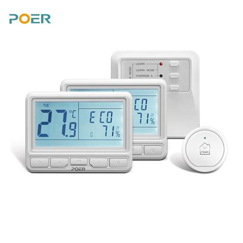 wireless room thermometer 433mhz wireless room heating controller wifi digital thermostat programmable app 2pc