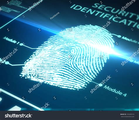 Where Can I Get Fingerprinted For A Background Check Fingerprint Identification On A Blue Background Stock Photo 105305510