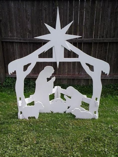 christmas outdoor nativity scene outdoor wood yard art