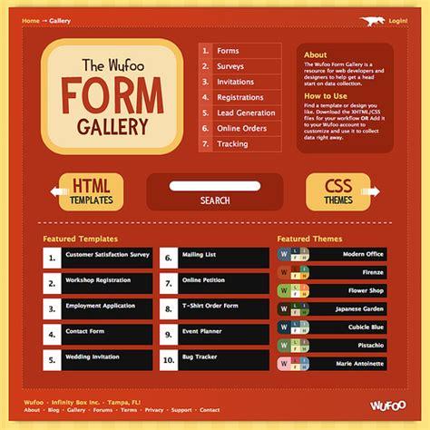 wufoo templates rise of the wufoo form gallery wufoo wufoo