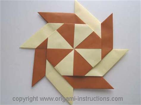 Origami Pinwheels - modular origami pinwheel step 6 crafts