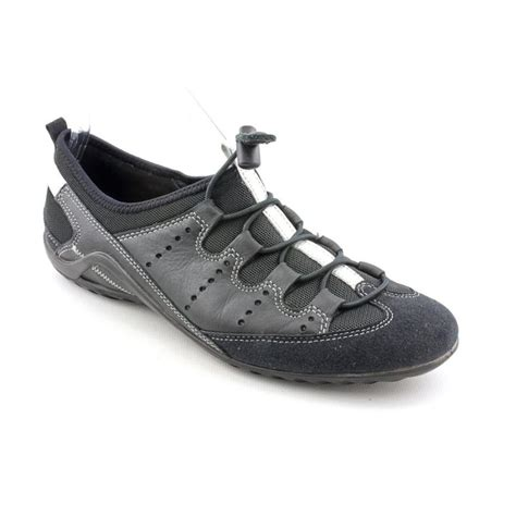 leather athletic shoes ecco ecco vibration ii leather black running shoe