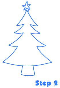 how to draw christmas tree tree drawing lesson