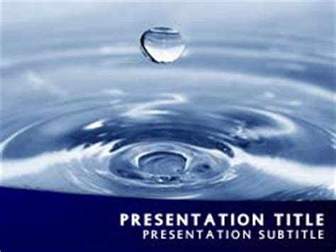 Royalty Free Water Powerpoint Template In Blue Microsoft Office Powerpoint Templates Water