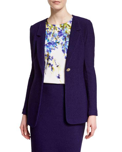 St Dress Jaket lyst st windy knit rever collar jacket in purple
