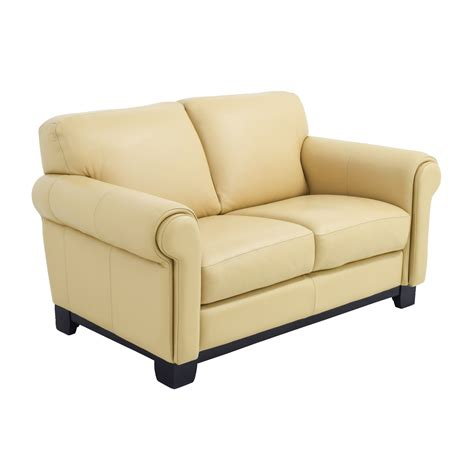 beige loveseat 78 off chateau d ax chateau d ax beige leather two seat