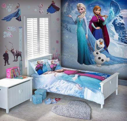 Kasur Anak Frozen Bigland desain kamar tidur anak dengan tema frozen rumah bagus