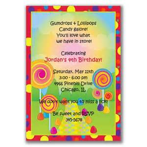 candyland invitations for birthday by milelj