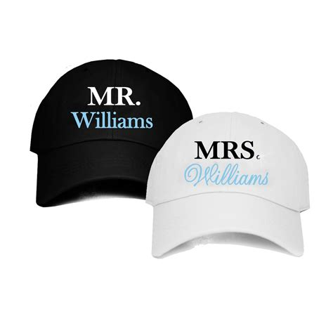 Personalized Mr. & Mrs. Baseball Caps, Mr. & Mrs. Bridal