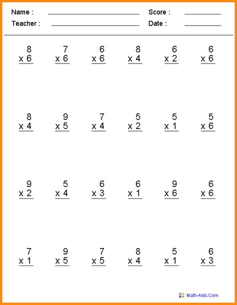 4th grade math papers worksheets for all and