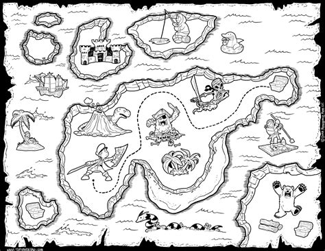 printable map coloring page pirate treasure map coloring pages coloring home