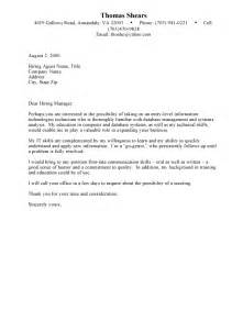 Cover Letter Template Student by Cover Letter Exles For Student Cover Letter Templates
