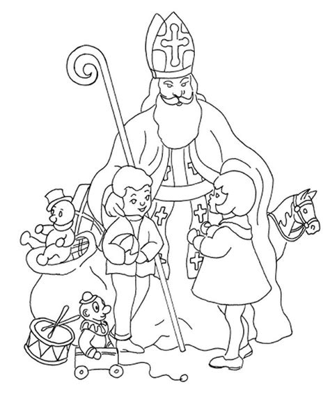 coloring page saint nicholas day coloring pages pinterest
