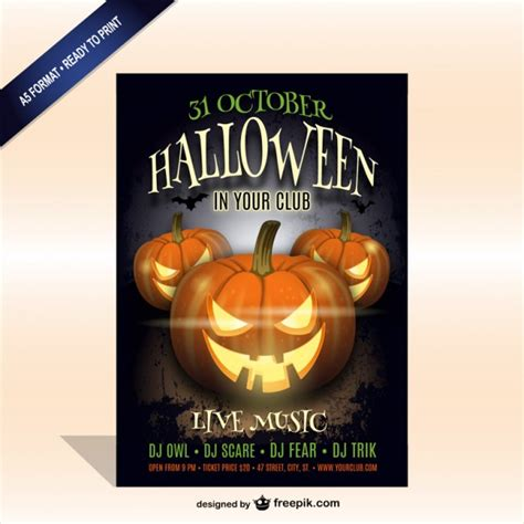 templates for party posters printable halloween party poster template vector free