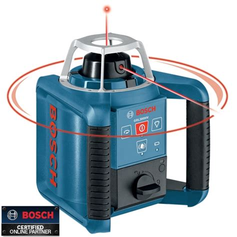 bosch layout laser bosch tools grl300hv self leveling rotary laser with