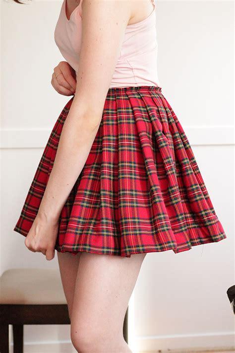 diy knife pleated skirt tutorial fashion diy