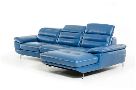 Blue Leather Sofa Bed Blue Leather Sofa Bed 1 099 99 Martello Blue Leather Sofa Clic Transitional Thesofa