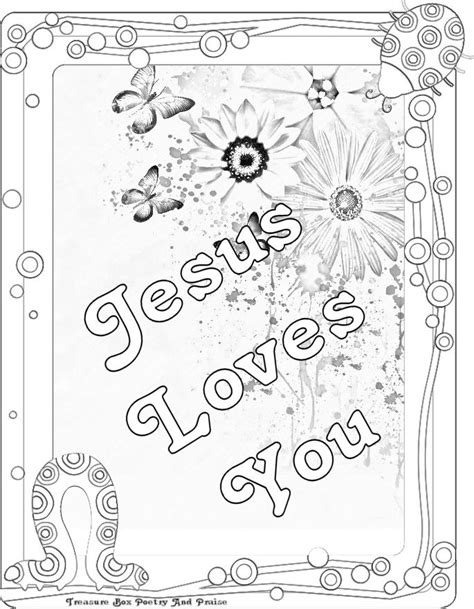 coloring pages jesus loves you children s gems in my treasure box jesus loves you