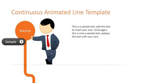 Animated Orange Line Powerpoint Template Slidemodel Animated Slideshow Templates