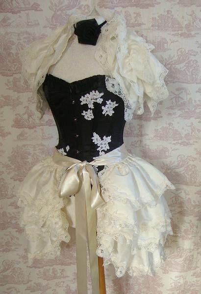 lace ivory victorian bustle skirt steunk wedding bustle silk tie on bustle skirt bridal