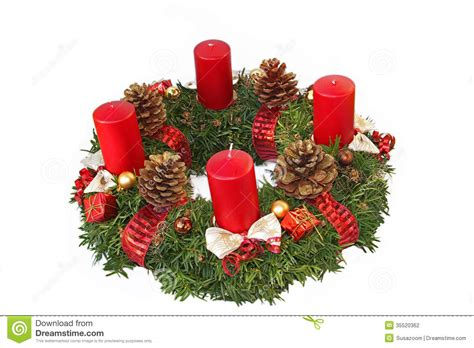 Handmade Advent Wreath - handmade advent wreath with ribbon and golden