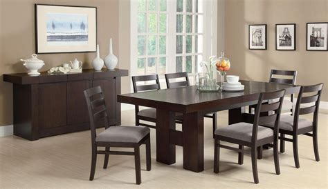 cappuccino dining room furniture dabny cappuccino rectangular extendable dining room set