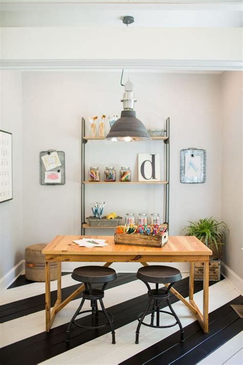 playroom craft room ideas using deck paint to paint stripes in the craft room or