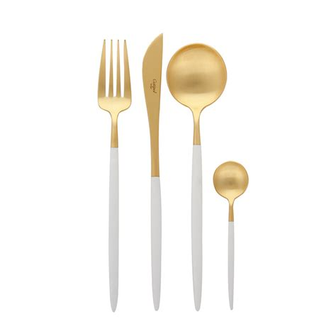 buy cutlery buy cutipol goa cutlery set 24 piece matt white gold