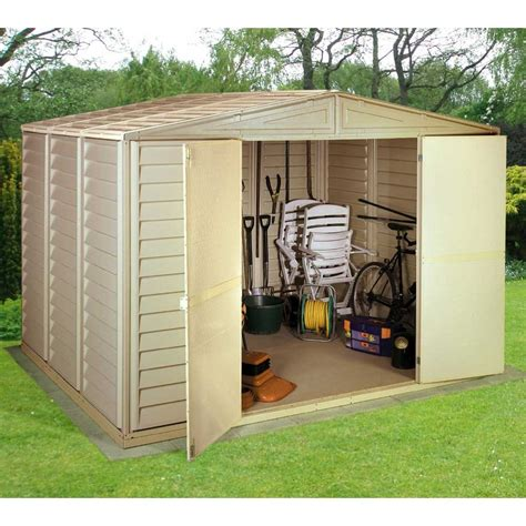 Duramax Sheds For Sale by Storemore Woodbridge Duramax Apex Shed 3 Sizes Hinged Doors