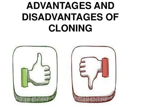Advantages And Disadvantages Of Cloning by Advantages And Disadvantages Of Cloning Sidhu