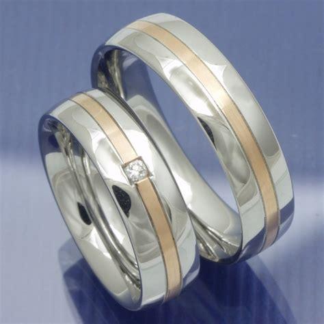 Eheringe Edelstahl Rotgold by Eheringe Shop Steel Gold Trauringe Aus Edelstahl Und