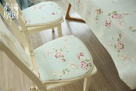 shabby chic seat pads country cottage shabby chic floral green chair seat