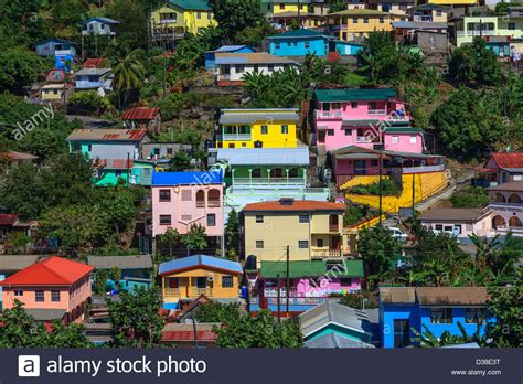 buying a house in st lucia colourful houses in canaries st lucia stock photo royalty free image 53661772 alamy