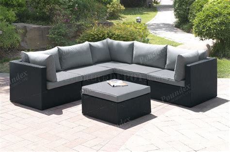 Patio Furniture Sectional Sets 407 Outdoor Patio 6pc Sectional Sofa Set By Poundex W Options