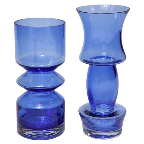 Cobalt Blue Glass Vases by Pair Of Cobalt Blue Glass Vases At 1stdibs