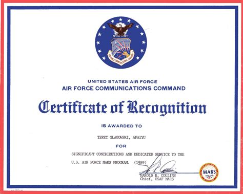 air certificate of appreciation template w1tr radio awards certificates