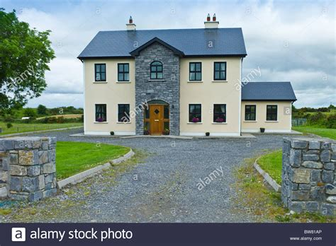 houses to buy in ireland new modern house typical of extensive new development in ireland at stock photo